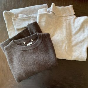 Pack of 3x Kids Grey Jumpers